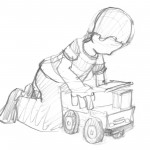 Boy with Dumptruck
