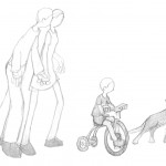 Stroll, Trike, Dog